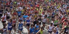 Partenza della Stramilano 2015 competitiva