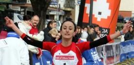 Laura Giordano in una gara vittoriosa