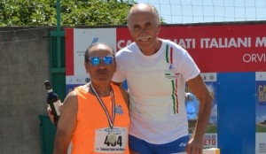 Tullio Hrovatin sul podio 100 Hs record italiano